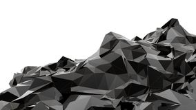 Black mountain. A very powerfull 3d design made by blender Royalty Free Stock Photo