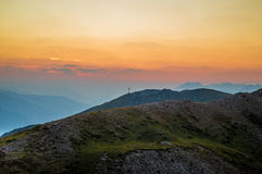Black Mountains during Sunset Stock Images