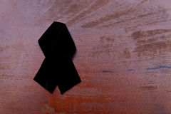 Black mourning ribbon Royalty Free Stock Image