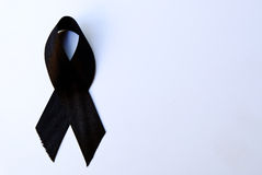 Black mourning ribbon Stock Images