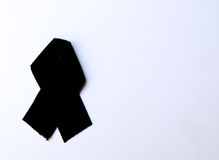 Black mourning ribbon Royalty Free Stock Images