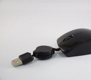 Black mouse USB cable. Stock Image