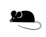 Black mouse. Vector illustration Stock Photo