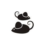 Black mouses Stock Photo