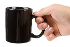 Black Mug Stock Photography