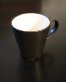 Black Mug. Close-up of an empty black mug stock image