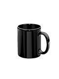 Black mug Royalty Free Stock Image