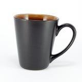 Black Mug. Isolated on white background Stock Photography