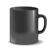 Black mug cup. Vector Black mug cup  on white background Royalty Free Stock Photo