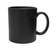 Black mug cutout Royalty Free Stock Photos