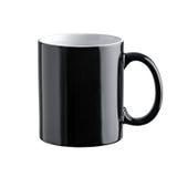 Black mug white background Stock Photography