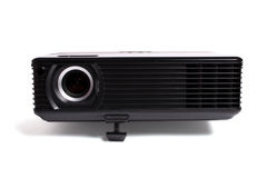 Black multimedia projector. Isolated over white royalty free stock images