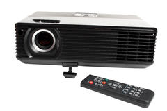 Black multimedia projector Stock Images