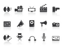 Black multimedia tools icon Royalty Free Stock Photography