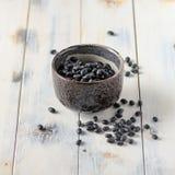 Black mung beans stock image