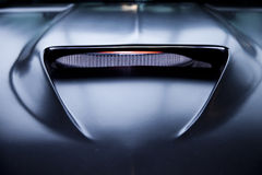 Black muscle car hood Royalty Free Stock Photography