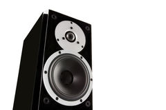 Black music loudspeaker Stock Images