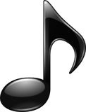 Black Music note Royalty Free Stock Photography