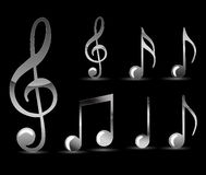 Black Music Note Royalty Free Stock Image