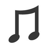 black music note, graphic Stock Photography