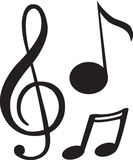 Black music note Royalty Free Stock Images