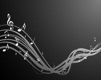 Black music notes vector illustration