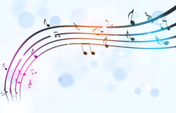Black Music Notes on White Background Royalty Free Stock Image