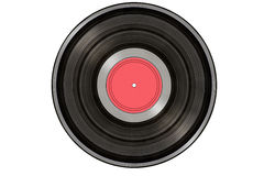 Black music record isolated on white Royalty Free Stock Photos