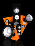 Black music and sound abstract illustration Stock Photography