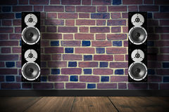 Black Music Speakers Stock Image