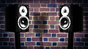 Black music speakers Royalty Free Stock Photos