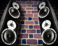 Black music speakers Royalty Free Stock Photo