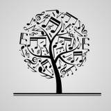 Black music tree Stock Photo