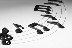 Black Musical Notes Stock Images