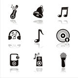 black musical tools icons Stock Images
