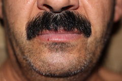 Black mustache Royalty Free Stock Image