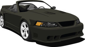 Black Mustang Convertible Stock Images