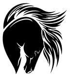 Black mustang vector Stock Images