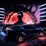 Black Mustang Sports Car Concept Art Stock Photos
