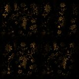 Black-N-Gold-Wall Stock Images