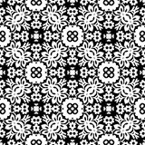 Black n white christmas flowers seamless pattern background illustration. Seamless vector background illustrations for use in web backgrounds , art , fabrics Stock Images