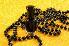 Black nail varnish Royalty Free Stock Image