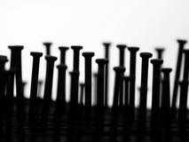 Black nails royalty free stock photos