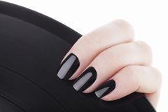 Black nails . royalty free stock photography