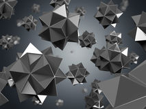 Black nano particles. Isolated on black vector illustration