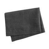 Black napkin. Isolated on white background stock photography