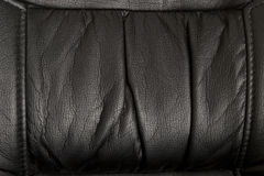 Black natural leather Stock Photos
