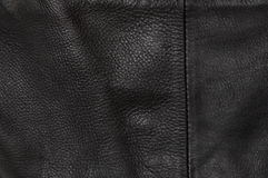 Black natural leather background Stock Images