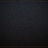 Black natural leather texture Stock Photo