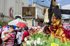 Black Nazarene festival at Quiapo district Royalty Free Stock Image